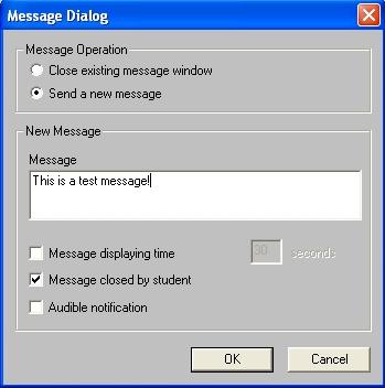 send notify message to window